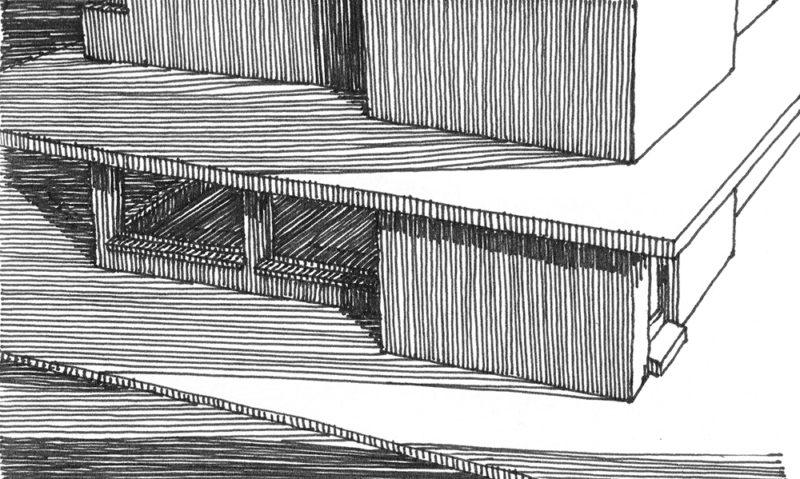 tekeningen, lijn Luifel bij laag licht