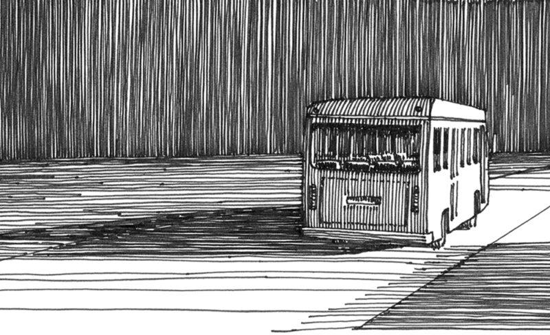 tekeningen, lijn Nachtrit