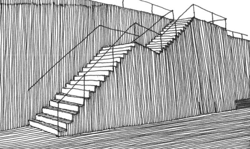 tekeningen, lijn Kade in Parijs