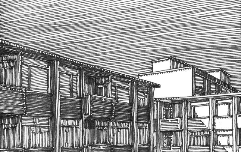tekeningen, lijn Namiddaglicht