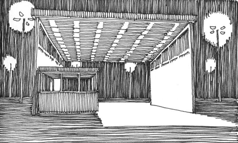 tekeningen, lijn Doorgang in Harwich