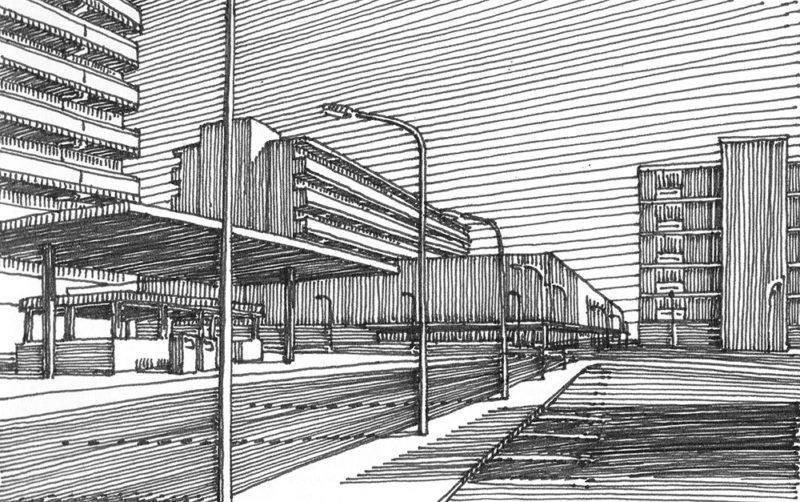 tekeningen, lijn Buitenwijk
