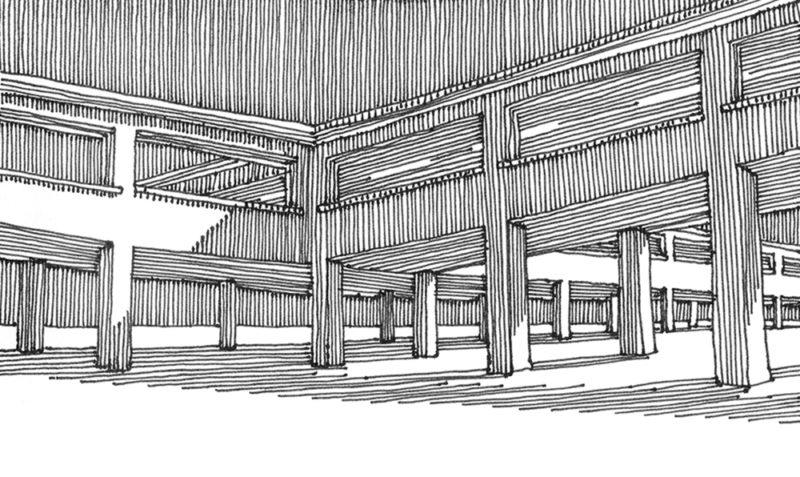 tekeningen, lijn Merkwaardige constructie