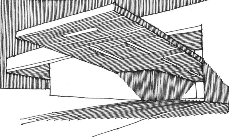 tekeningen, lijn Onmogelijke luifel