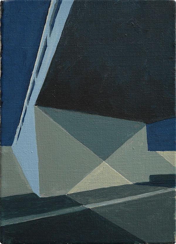 schilderijen Viaduct met kruisschaduw