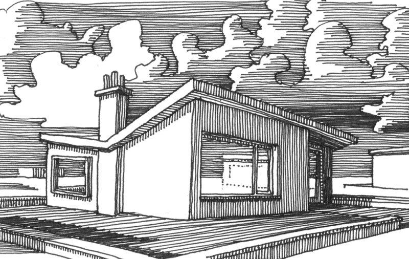 tekeningen, lijn Villa in West-Vlaanderen