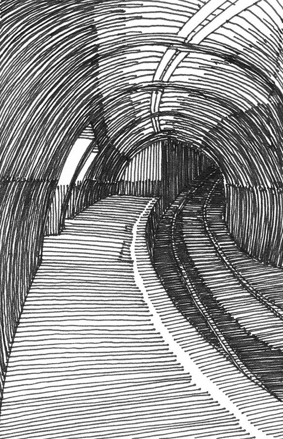 tekeningen, lijn Londen ondergronds