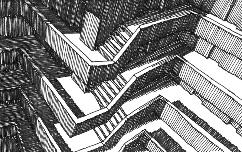 tekeningen, lijn Stapelen