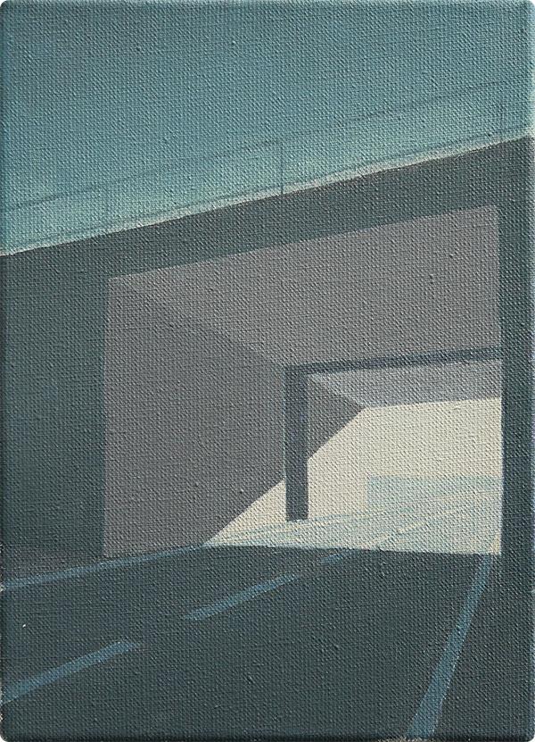 schilderijen Viaduct bij schemer