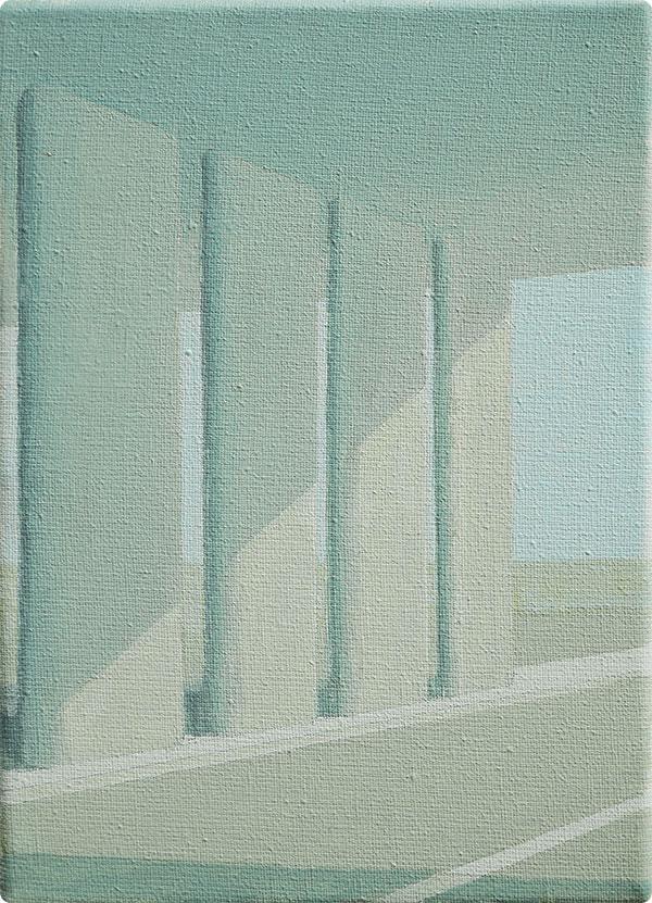 schilderijen Viaduct bij diffuus licht