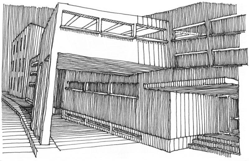 tekeningen, lijn Onderdoorgang en entree