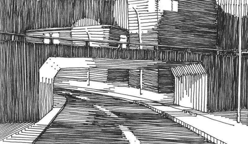 tekeningen, lijn Doorgang Haarlem