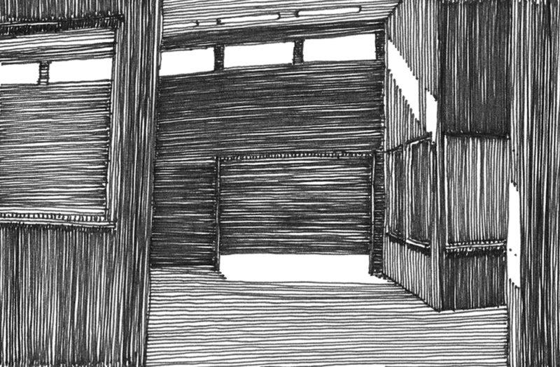 tekeningen, lijn Loods in Warmond