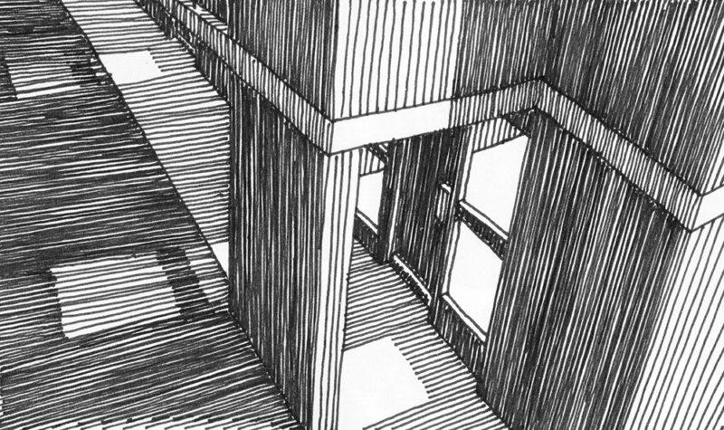 tekeningen, lijn Entree bij Haarlem
