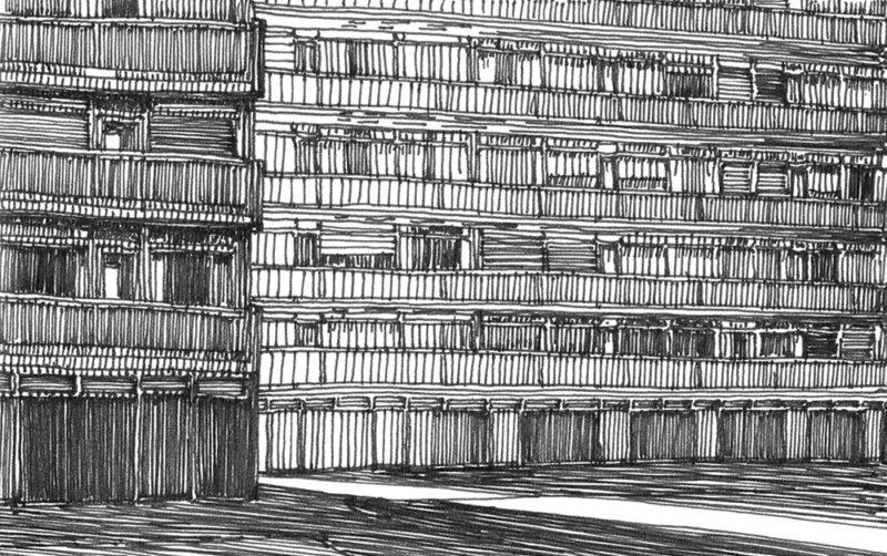 tekeningen, lijn Ochtendschemer