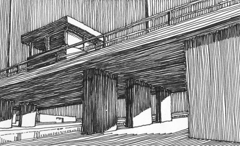 tekeningen, lijn Onderdoor en bovenlangs