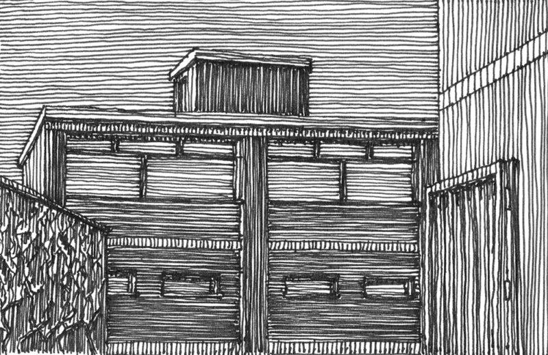 tekeningen, lijn Trompstraat (winter)