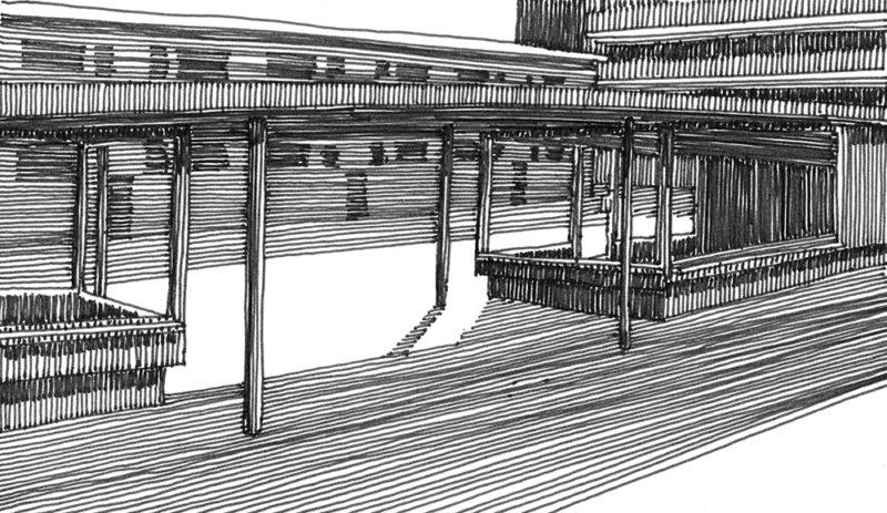 tekeningen, lijn Tussendoor in Zandvoort