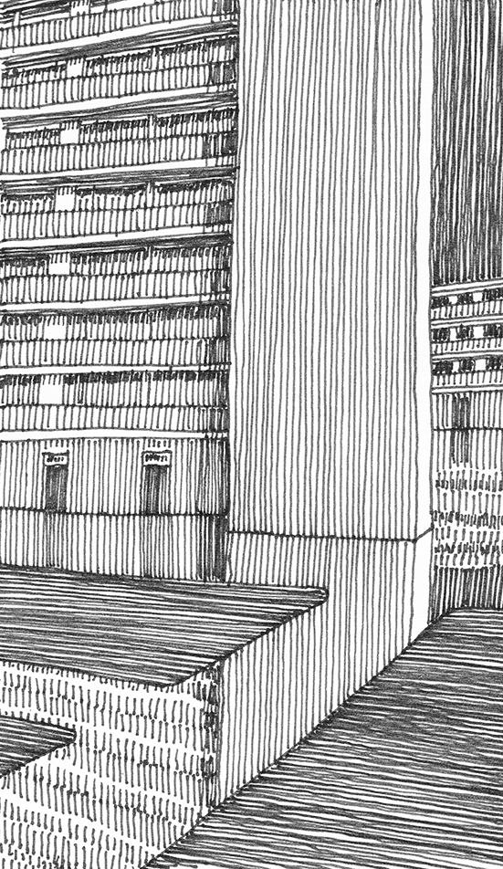 tekeningen, lijn Herhaling en reflectie