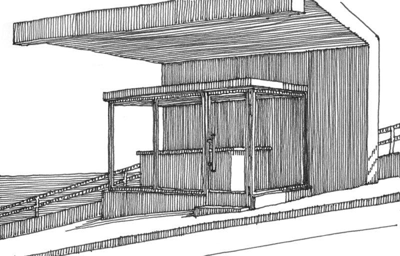 tekeningen, lijn Constructie nabij San Remo