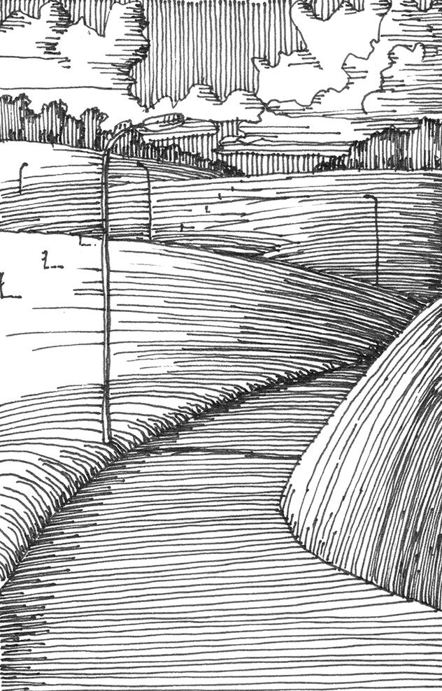 tekeningen, lijn Schwarzwalder hellingen