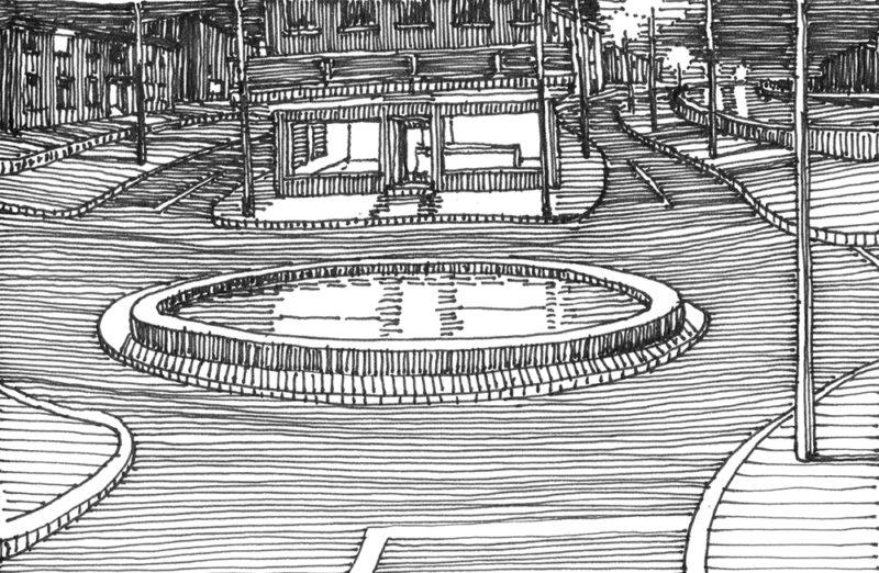 tekeningen, lijn Rotonde in Bad Herrenalb