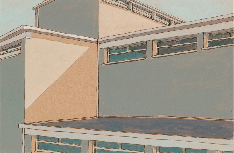 tekeningen, kleur Leimuiden exterieur 2