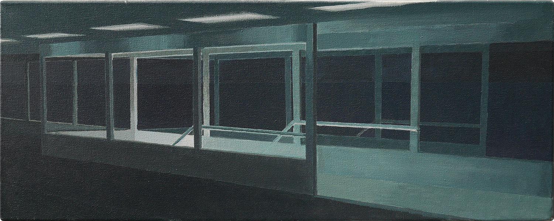 schilderijen Perron bij nacht